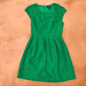 Forever 22 Green Lace Dress